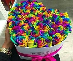 colour, flowers, and buquê image