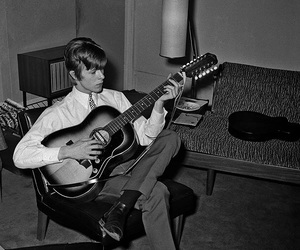 bowie, david bowie, and guitar image