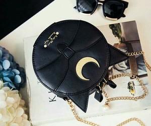 bag, black, and sailor moon image