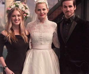 once upon a time, wedding, and captainswan image