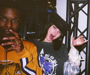 kendall jenner, asap rocky, and model image