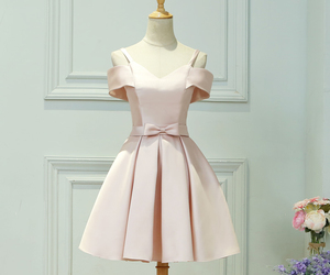 cocktail dress, fashion, and pale pink image