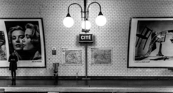 paris, train, and underground image