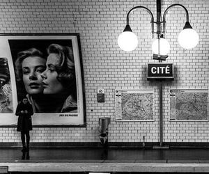 paris, underground, and train image