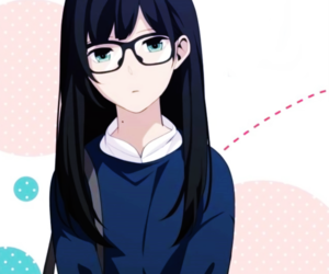 Anime girls with glasses