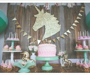 decor, party, and unicorn image