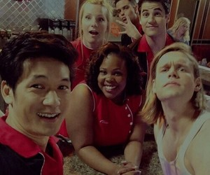 glee, chord overstreet, and heather morris image