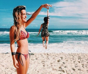 beach, pool, and girls image