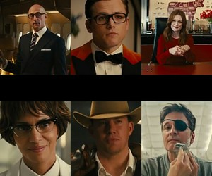 channing tatum, Colin Firth, and Halle Berry image