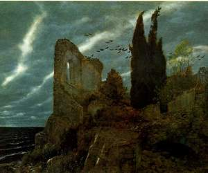 art, arnold bocklin, and painting image