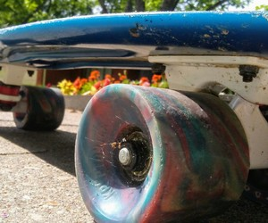 aesthetic, photography, and skateboard image