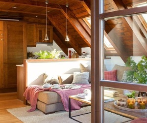 calm, house, and sofa image