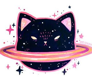 cat, fancy, and planet image