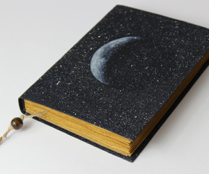 etsy, journal, and full moon image