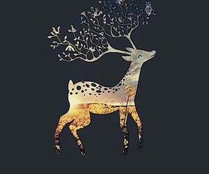 wallpaper, deer, and iphone image