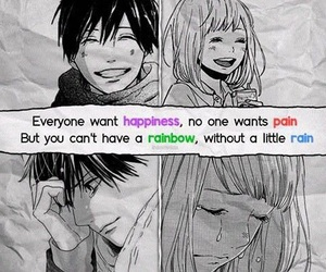 anime, couple, and cry image