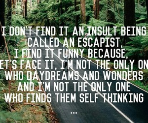 daydream, forest, and quote image