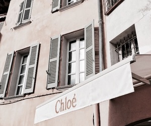 chloe, architecture, and beige image