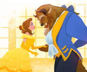 disney, princess, and beauty and the beast image