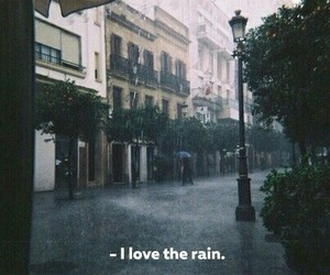 rain, quotes, and city image