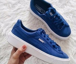 puma, blue, and sneakers image