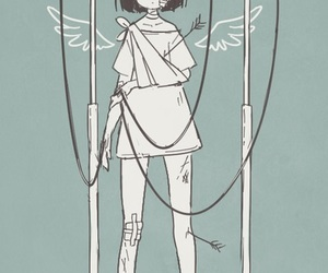 anime, girl, and angel image