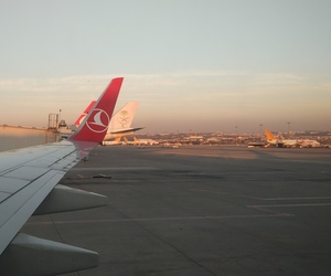airport, Flying, and istanbul image