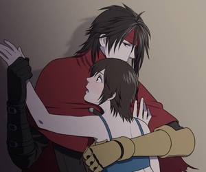 final fantasy, ffvii, and anime couples image
