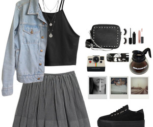 outfit, Polyvore, and skirt image
