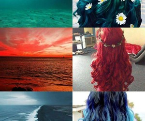 beautiful, ocean, and red image
