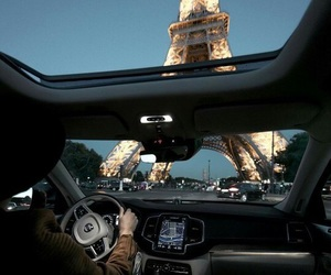 paris, car, and travel image