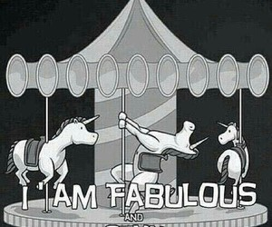fabulous, unicorn, and funny image