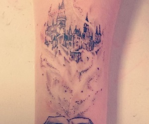book, tattoo, and harry potter image