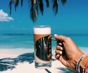 summer, beach, and coffee image