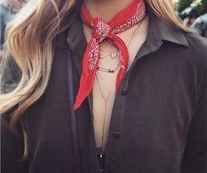 bandana, black, and fashion image