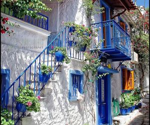 Greece, blue, and house image