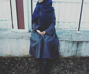 blue, hijab, and inspiration image