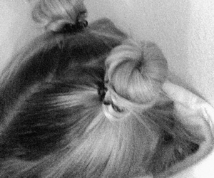 90's, hairstyle, and b&w image
