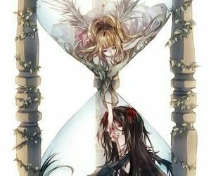 anime, angel, and hourglass image