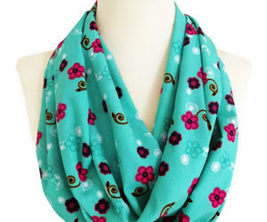 etsy, infinity scarf, and floral scarf image