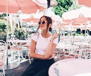 brunette, kenza zouiten, and fashion image