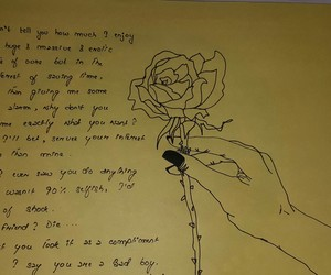 crush, emptiness, and roses image