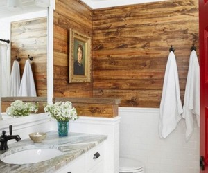 bathroom, country living, and farmhouse image