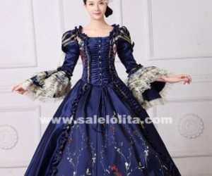 marie antoinette dress, reenactment clothing, and civil war gown image