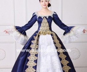 marie antoinette dress, reenactment clothing, and civil war dress image