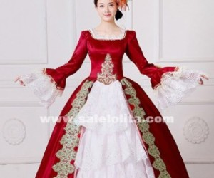 marie antoinette dress, southern belle dress, and reenactment clothing image