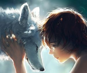 wolf, anime, and art image