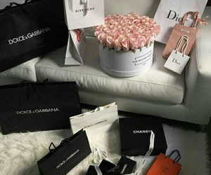 flowers, dior, and chanel image