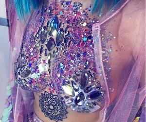 fashion, girl, and glitter boobs image