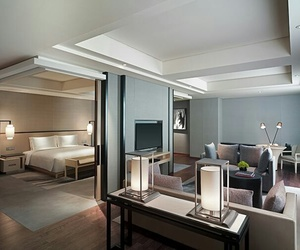 bedroom, room, and hotel image